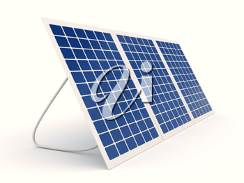 Royalty Free Clipart Image of Solar Panels