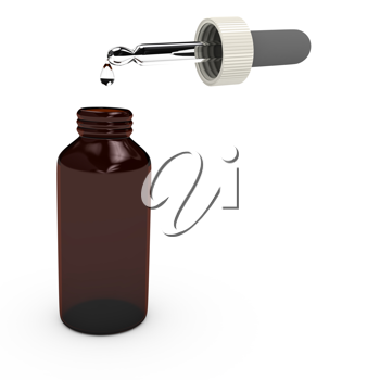 Royalty Free Clipart Image of a Bottle