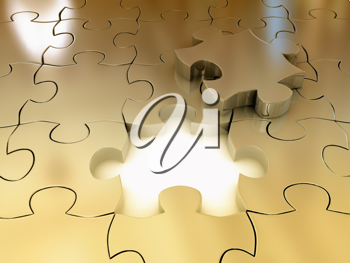 Royalty Free Clipart Image of a Puzzle