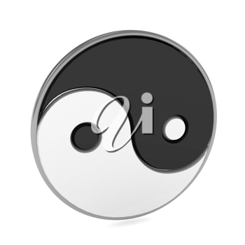 Royalty Free Clipart Image of a Yin Yang Symbol