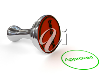 Royalty Free Clipart Image of a Stamp