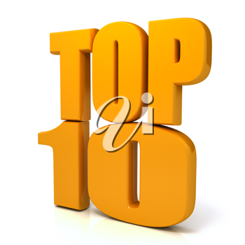 Royalty Free Clipart Image of the Words Top 10