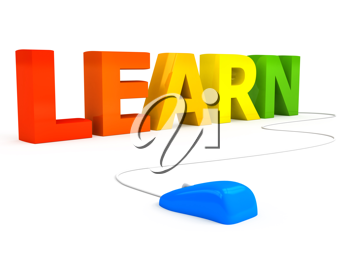 Royalty Free Clipart Image of an E-Learning Concept