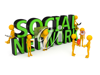 Royalty Free Clipart Image of a Social Network Concept