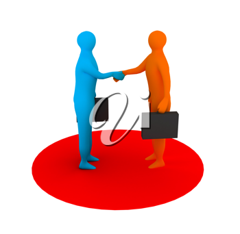 Royalty Free Clipart Image of Businesspeople Shaking Hands