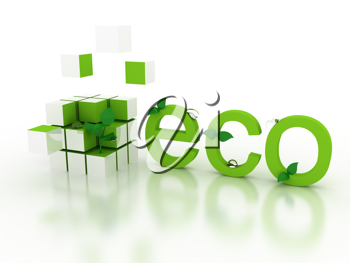 Royalty Free Clipart Image of an Eco Concept