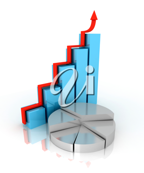 Royalty Free Clipart Image of a Chart and Graph