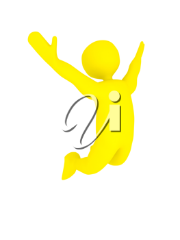 Royalty Free Clipart Image of a Victory Concept
