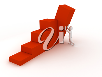 Royalty Free Clipart Image of a Person Holding Up a Chart