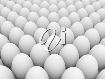 Royalty Free Clipart Image of a Bunch of Eggs