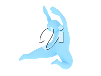 Royalty Free Clipart Image of a Person Dancing
