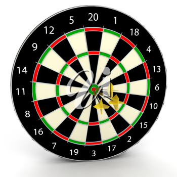 Royalty Free Clipart Image of a Dartboard