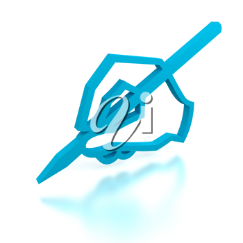 Royalty Free Clipart Image of a Mail Sign