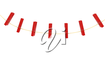 Royalty Free Clipart Image of Clothespins