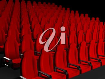 Royalty Free Clipart Image of Movie Theater Seats