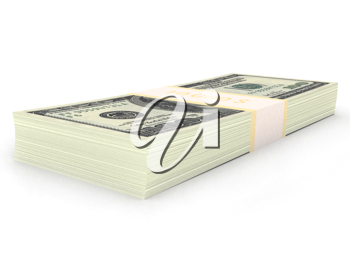Royalty Free Clipart Image of a Stack of Money