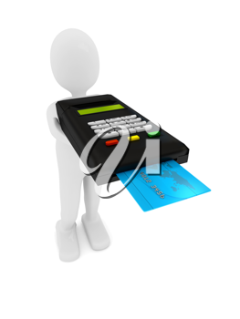 Royalty Free Clipart Image of a Credit Card Terminal