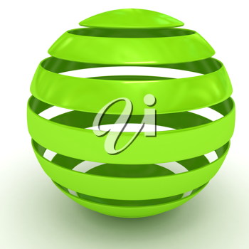 Royalty Free Clipart Image of a Green Sphere