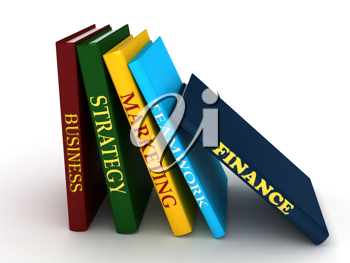 Royalty Free Clipart Image of Business Books