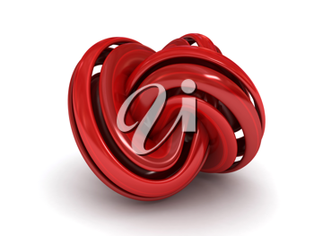 Royalty Free Clipart Image of an Abstract Torus Knot