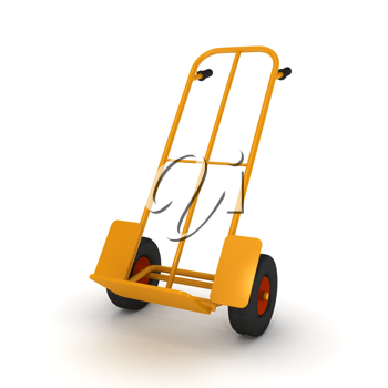 Royalty Free Clipart Image of a Delivery Cart