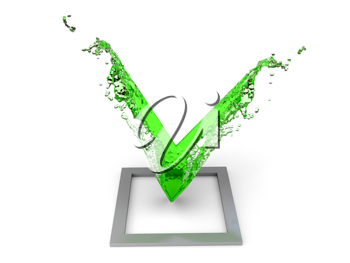 Royalty Free Clipart Image of a Checkmark