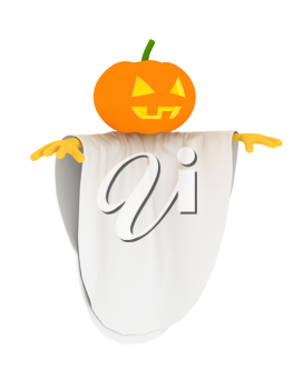 Royalty Free Clipart Image of a Halloween Pumpkin