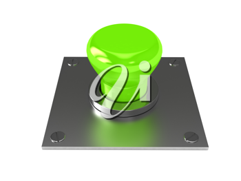 Royalty Free Clipart Image of a Green Button