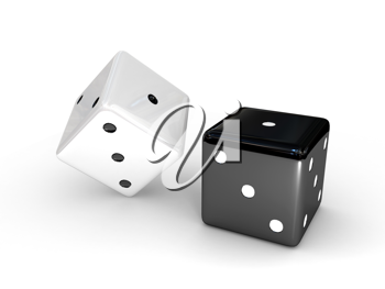 Royalty Free Clipart Image of Two Dice