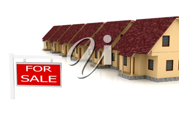 Royalty Free Clipart Image of a Group of Houses