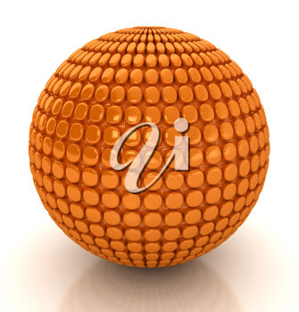 Royalty Free Clipart Image of an Orange Sphere