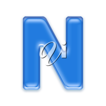 Royalty Free Clipart Image of a Letter 'N'