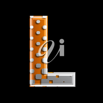 Royalty Free Clipart Image of a Letter 'L'