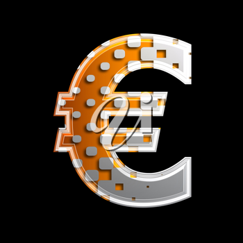 Royalty Free Clipart Image of a Euro