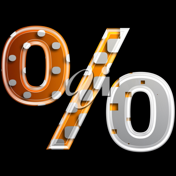 Royalty Free Clipart Image of a Percentage symbol