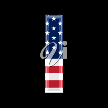 Royalty Free Clipart Image of an American Flag 'l'