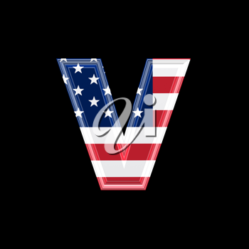 Royalty Free Clipart Image of an American Flag 'v'