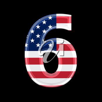 Royalty Free Clipart Image of a Number Six