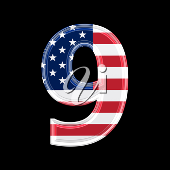 Royalty Free Clipart Image of a Number Nine