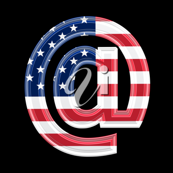Royalty Free Clipart Image of an @ Symbol