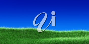 Royalty Free Clipart Image of a Grass Field