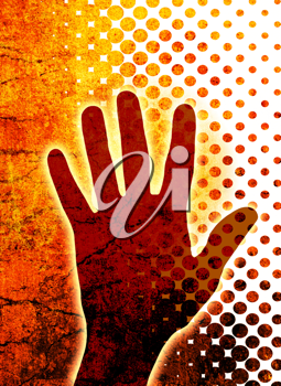 Royalty Free Clipart Image of a Hand Background