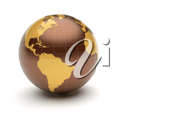 Royalty Free Clipart Image of The Earth