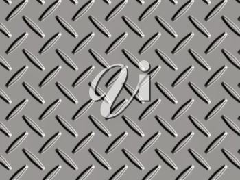 Royalty Free Clipart Image of a Diamond  Plate Metal