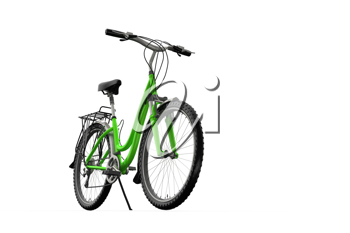 Royalty Free Clipart Image of a Mountain Bike