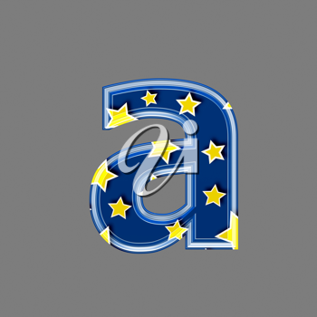 3d letter with star pattern - A