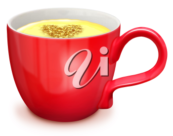 Royalty Free Clipart Image of a Cup of Eggnog