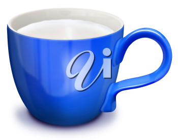 Royalty Free Clipart Image of a Cup of Milk