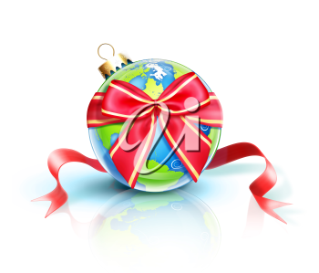 Royalty Free Clipart Image of a Christmas Ornament Globe