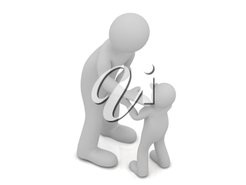 Royalty Free Clipart Image of Man and Child